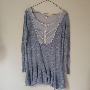 Free People Flounce Sweater Top